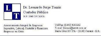 Leonardo Jorge Tomás - La Web de Paraná
