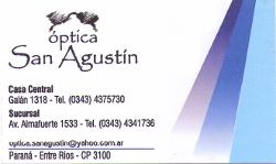 Optica San Agustín - La Web de Paraná