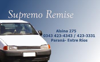Supremo Remise - La Web de Paraná